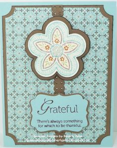 triple treat flower stampin up cards | ... by Beverly Polen: Stampin' Up! Triple Treat Flower and Spice Cake DSP