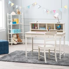 Classic Playtime Spindle Desk and Chair with Optional Hutch   from hayneedle.com