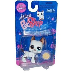 "Littlest Pet Shop Littlest Figure Great Dane with Food Bowl by Hasbro, Also known as ""Tom Dawson"""