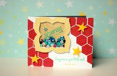 hooray for you -congrats shaker baby card
