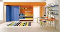 Interesting Colorful Boys Bedroom Ideas by ZG Group: Bright Orange ZG Group Boys Bedroom