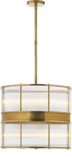 ALLEN GLASS ROD LARGE PENDANT | Circa Lighting (Ralph Lauren) - different...a bit more modern
