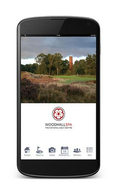 Woodhall Spa Golf App on a Android Nexus4
