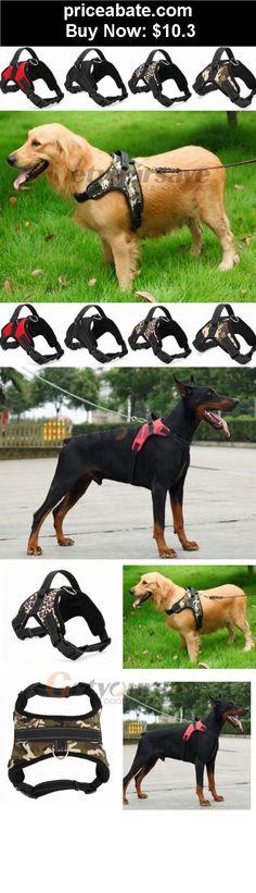 Animals-Dog: Big Dog Soft Adjustable Harness Pet Large Dog Walk Out Harness Vest Collar - BUY IT NOW ONLY $10.3
