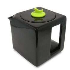Tea Cube Teapot Black/Lime   by Make My Day     A twist on the traditional teapot, this cube-shaped design comes with a built-in stainless steel infuser and a darling silicone stopper in the shape of a bird. Ideal for brewing your morning black chai or passion fruit blend, this inspired pot has a four-cup capacity.