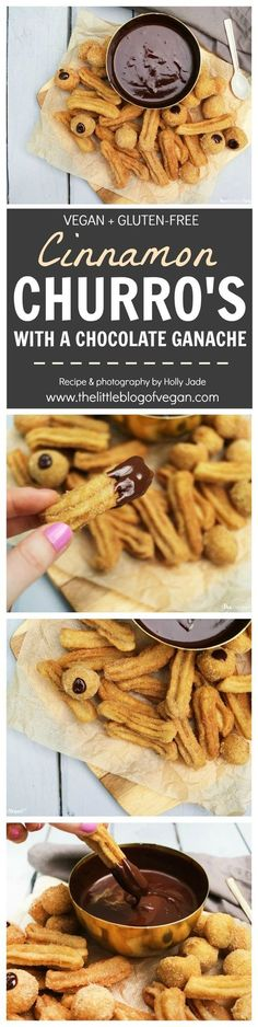 Vegan + gluten-free churros with a delicious vegan chocolate ganache! Perfect for summer!!!