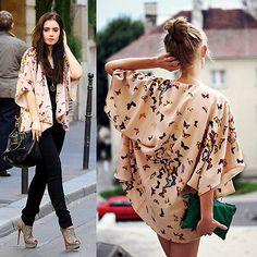 Günstige Frauen Damen Schmetterling Geöffnete Cape Mantel Lässig Lose Bluse kimono Jacke Strickjacke, Kaufe Qualität Grund Jacken direkt vom China-Lieferanten: Hallo! Willkommen zu unserem Speicher!Qualität ist die erste mit besten Service. Kunden sind unsere Freunde.Produktmerkm
