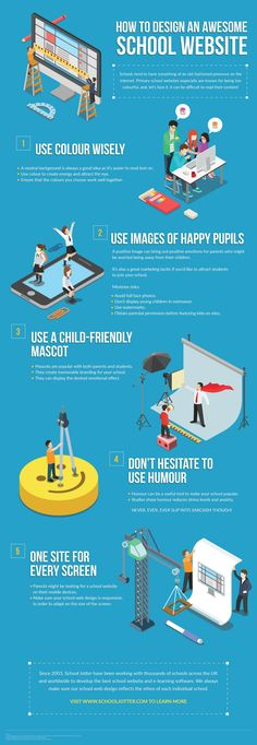 How to Design an Awesome School Website Infographic - http://elearninginfographics.com/design-awesome-school-website-infographic/