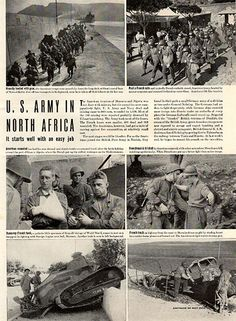 """1942 US Army in North Africa Original World War 2 WW2 Print Ad -An original vintage 1942 advertisement, not a reproduction -Measures approximately 10"""" x 13"""" to 11"""" x 14"""" -Ready for matting and framing"""