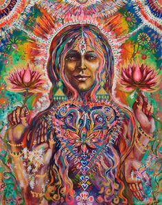 Déesse de l'art visionnaire d'abondance Lotus par MariposaGalactica