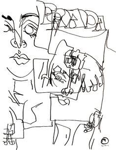 belle BRUT sketchbook: #PRADA #fashion #style #illustration #blindcontour © belle BRUT 2014   http://bellebrut.tumblr.com/post/93750604650/belle-brut-sketchbook-prada-fashion-style