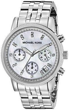 Michael Kors Women's MK5020 Silver Chronograph Knurl Top Ring Watch Michael Kors http://www.amazon.ca/dp/B000SLRAKO/ref=cm_sw_r_pi_dp_kRgVwb11KR2MQ