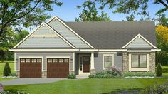 Home Plan HOMEPW77792 - 1865 Square Foot, 2 Bedroom 2 Bathroom Ranch Home with 2 Garage Bays   Homeplans.com