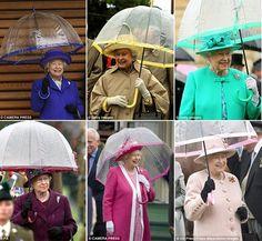 the Queen always has a matching umbrella!