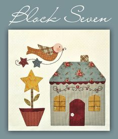 Country Cottages Block #7 Free Downloadable Pattern