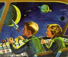 Kiddie Space Commanders ~ New Adventures Coloring Book, 1959.