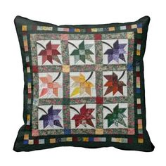 Fall Leaves Quilt Pillow - this is very pretty!