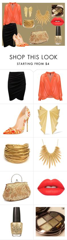 """Coral Kinda Day"" by angelkyle on Polyvore featuring Manon Baptiste, Ileana Makri, Black & Sigi, Michael Kors, Lime Crime and OPI"