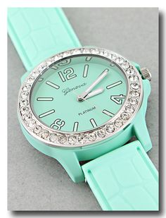 P.S. I Love You More Boutique | Lovely Crystal Mint Watch | Online Store Powered by Storenvy
