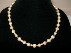 Pearls and crystals natural color with matching by MDJewelCraft, $60.00