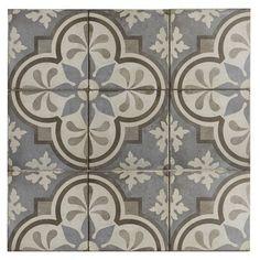"""Itona Tile Encausto Tuile De Champ En Porcelaine 8 """"X - ОПК Look Wallpaper, Patchwork Tiles, Encaustic Tile, Decorative Tile, Stone Tiles, Bathroom Flooring, Tile Flooring, Tile Design, Pattern Design"""