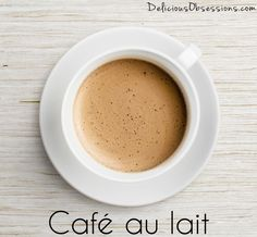 Cafe au Lait Made with Herbal Coffee // deliciousobsessions.com