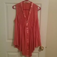 Reddish button up tank top Reddish button up tank top. Bought from Nordstrom. Worn a handful of times. Gibson Tops Tank Tops