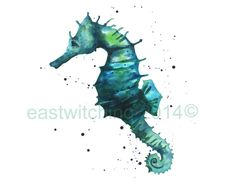 SEAHORSE Pictures Watercolor SEAHORSE print by eastwitching, $25.00