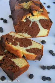 An easy recipe for chocolate marble loaf cake with crisped edges and a moist center - it is sturdy, perfectly dense and lightly sweet.