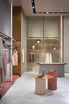Studiopepe celebrates Thai craft inside Jaspal store interior in Bangkok Boutique Interior, Retail Interior Design, Retail Store Design, Retail Shop, Interior Design Tips, Retail Displays, Shop Displays, Window Displays, Interior Shop