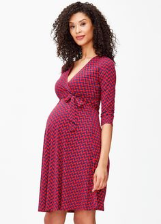 411be302eed Leota - Berry French Braid Perfect Wrap Dress. Maternity Nursing Dress