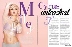 The new edition of Cosmopolitan Australia has just hit the newsstands. Check out the Miley Cyrus cover: . Cosmopolitan Magazine, Instyle Magazine, Editorial Layout, Editorial Design, Miley Cyrus, Magazine Layout Design, Magazine Layouts, Shave Her Head, Magazine Spreads