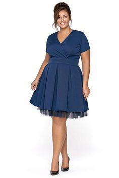 654c523178ba Modré šaty se spodničkou Kartes Carol Dresses For Work