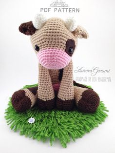 timothy bear amigurumi pdf pattern by AuroraGurumi on Etsy