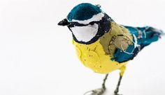 Fabric collage bird. Imagine GIGANTIC!