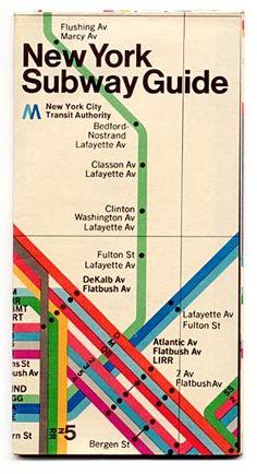 A very design New York Subway Guide.    via subway.com.ru