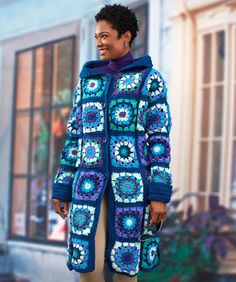 Granny square - have you tried working some into a sweater or a coat before?