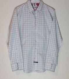 Lions Crest English Laundry Shirt White 100% Cotton Button Front Long Sleeve Med #LionsCrest #ButtonFront
