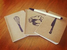 Culinary Pocket Notebooks Collection Mini Notebooks by SlimNote, $10.00