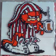 Garfield hama perler beads by deco.kdo.nat