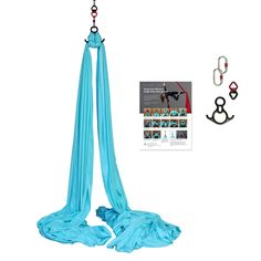 Aerial Silks Equipment Includes Guides Hardware Premium Deluxe Low-Stretch Fabric Red with Guides Aerial Acrobatics, Aerial Dance, Aerial Hoop, Aerial Arts, Aerial Silks, Aerial Hammock, Pranayama, Yoga Equipment, Pole Fitness