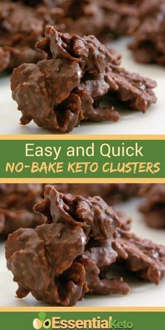Keto Snacks Discover No Bake Almond and Coconut Clusters [Easy Keto] These No Bake Almond and Coconut Clusters are quick and easy to make. They are delicious and the perfect keto snack when you really need some sweetness. Low Carb Deserts, Low Carb Sweets, Keto Cookies, Keto Peanut Butter Cookies, Coconut Cookies, Keto Fat, Low Carb Keto, Ketogenic Recipes, Low Carb Recipes