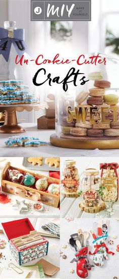Have a friend who loves to bake? Check out these un-cookie-cutter crafts that make for great holiday gifts. From decorative oven mitts and candy jars to festive sprinkle ornaments and recipe boxes, these handmade gifts are perfect for the avid baker in your life! Start crafting today at JoAnn.com.
