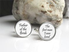 Father Of The Bride Wedding Cufflinks by AllAboutYouCreations, $24.00