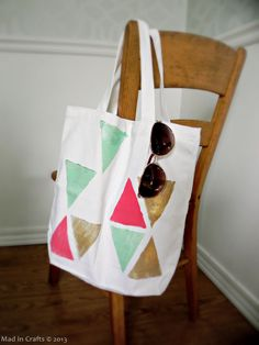 DIY Block Print Tote Bag tutorial