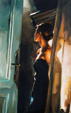 "fabulous luminosity - Der Blick, oil 39 x 24.8"" - Edward B. Gordon"