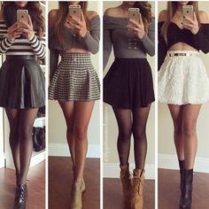 Way to wear skater skirt