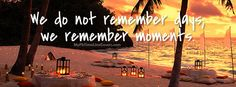 We remember moments Facebook Covers for your FB timeline profile!