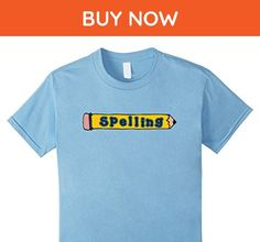 Kids Spelling Pencils, Teacher T-Shirt 6 Baby Blue - Careers professions shirts (*Amazon Partner-Link)