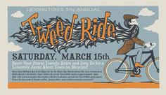 Tweed Ride  Screenprinted Poster by cricketpress on Etsy, $20.00